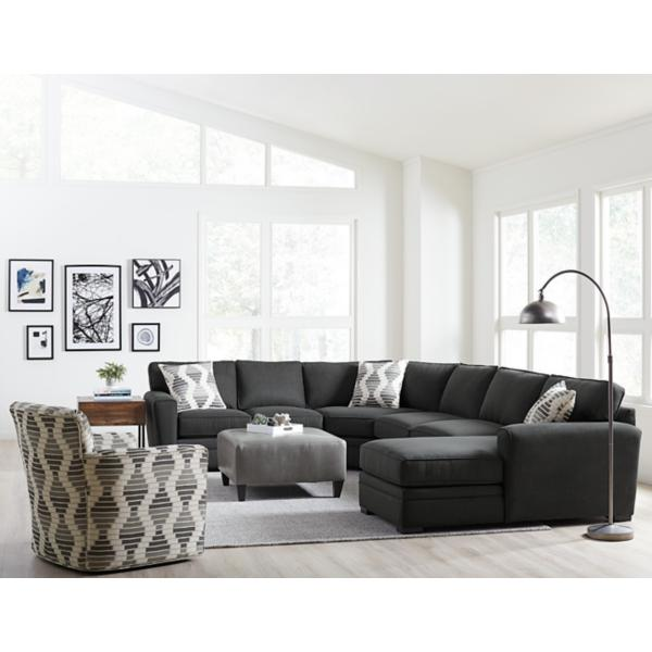 Artemis 4-Piece Chaise Sectional (RAF) - PEPPER