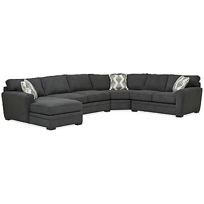 Artemis 4-Piece Chaise Sectional (LAF) - PEPPER