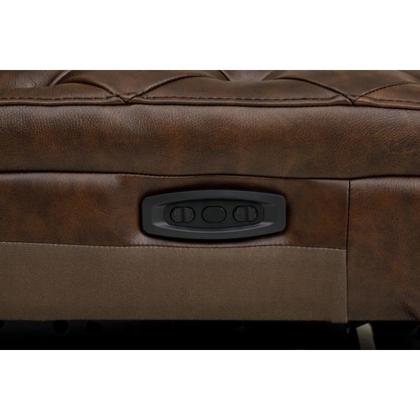 Savion Leather 5-Piece Power Reclining Modular Sectional