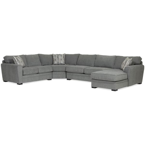 Artemis 4 Piece Chaise Sectional (RAF) - GRANITE