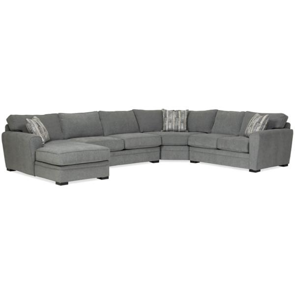 Artemis 4-Piece Chaise Sectional (LAF) - GRANITE