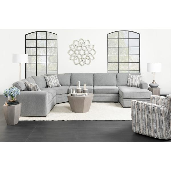 Artemis 4 Piece Chaise Sectional (LAF) - GRANITE