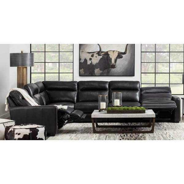 Bryson Leather 6-Piece Power Reclining Modular Sectional