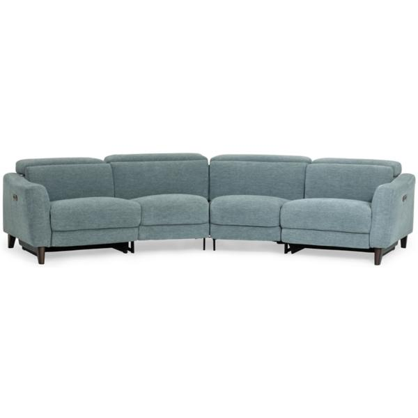 Elton 4-Piece Power Reclining Sectional - TEAL
