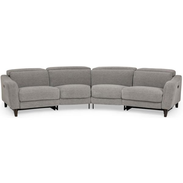 Elton 4-Piece Power Reclining Sectional - DOVE