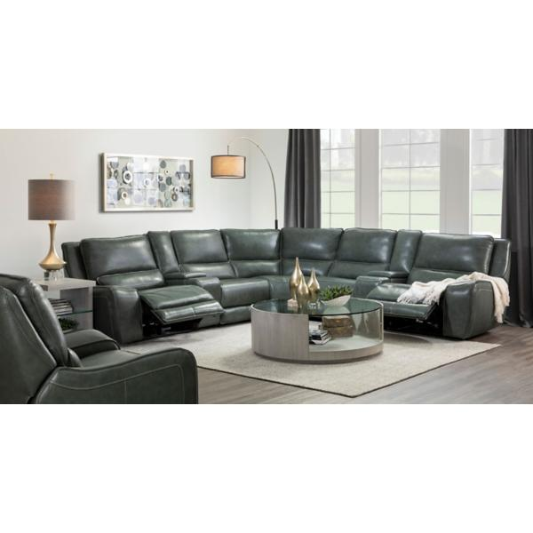 Lagoon Leather 7 Piece Power Reclining Modular Sectional