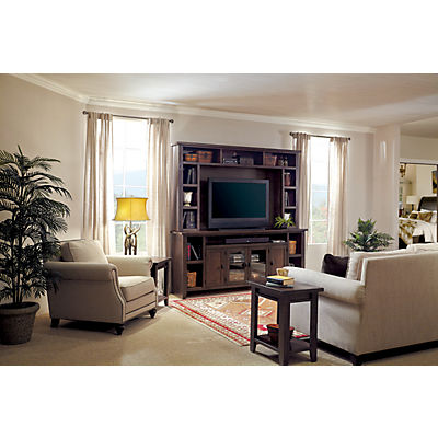Alder Grove 2-Piece 84 Media Console With Hutch