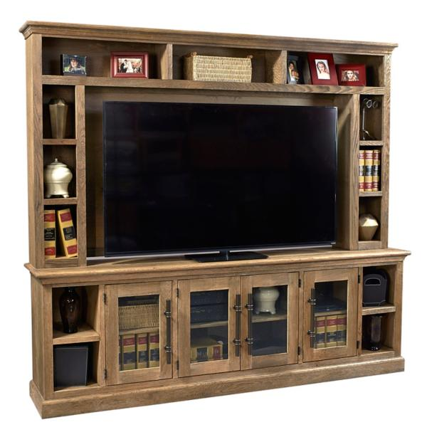 Manchester 2PC Entertainment Wall- Glazed Oak
