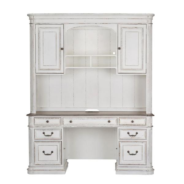 Magnolia Manor Jr Executive Credenza and Hutch