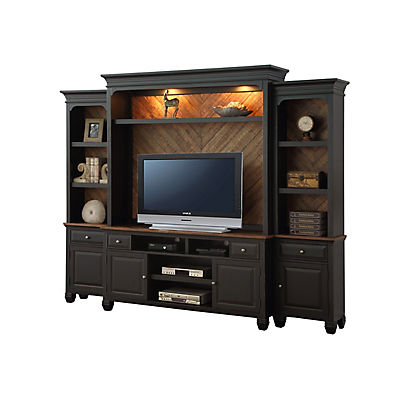 Camille 4PC Entertainment Wall- Black