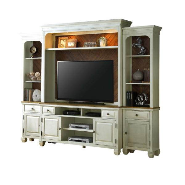 Camille 4PC Entertainment Wall- Ivory