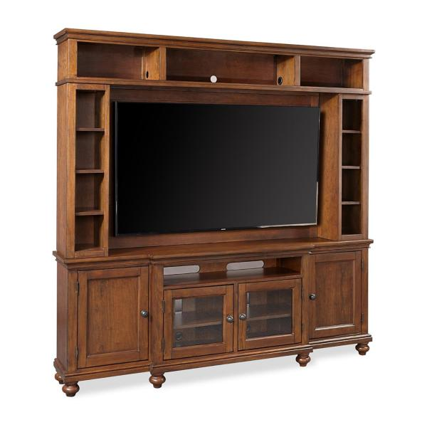 Oxford 2PC Entertainment Wall- Whiskey Brown