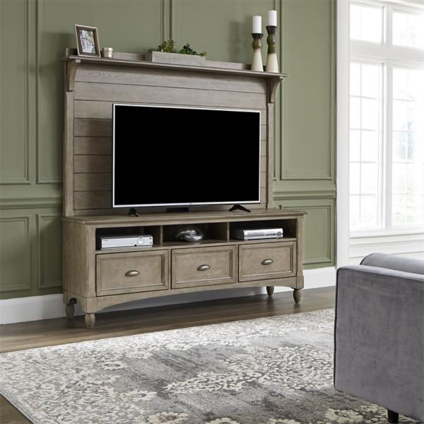 Lakeside 2PC Entertainment Wall- TAUPE