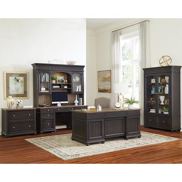 Langston Credenza Desk & Hutch