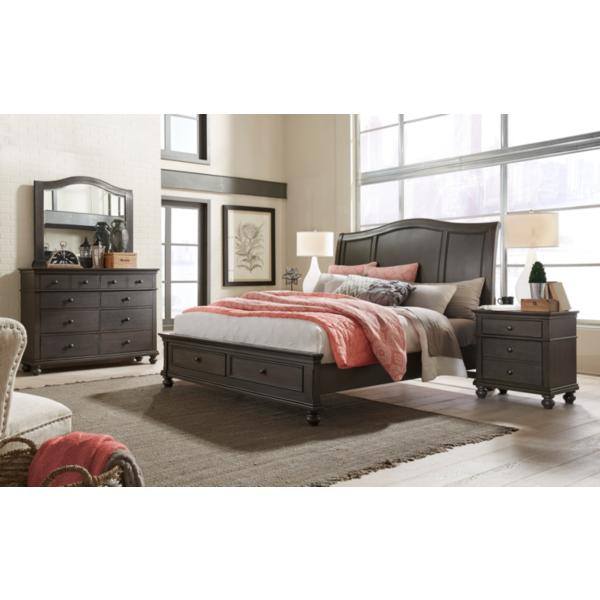 Oxford Peppercorn Sleigh Storage Bed