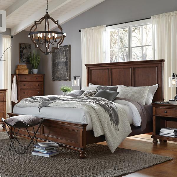 Oxford Whiskey Brown Panel Bed