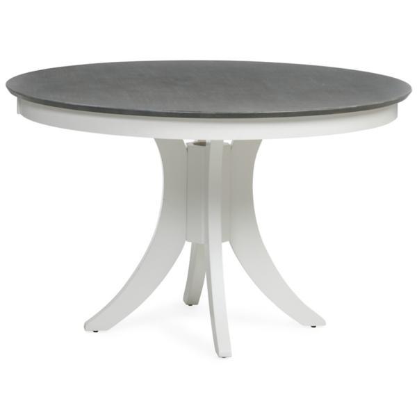 Cosmopolitan White/Grey Round Pedestal Table