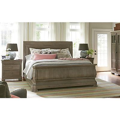New Lou Reprise Driftwood Queen Sleigh Bed