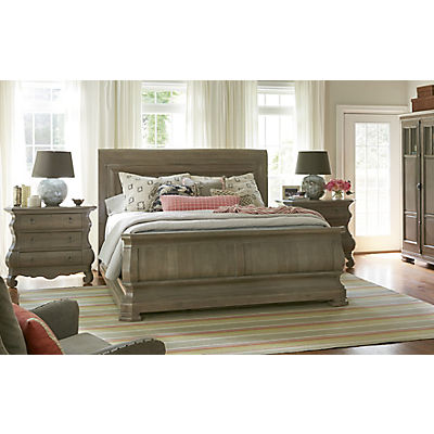 New Lou Reprise Driftwood Queen Sleigh Bed