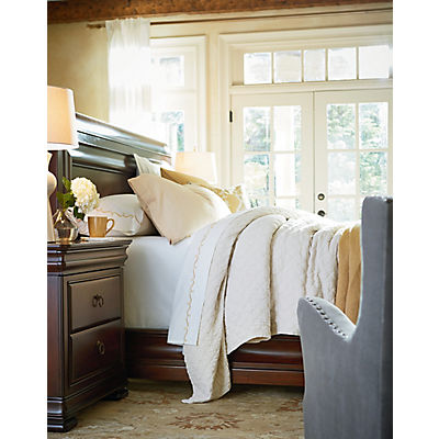 New Lou Reprise Cherry Sleigh Bed