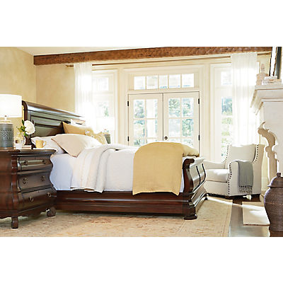 New Lou Reprise Cherry King Sleigh Bed