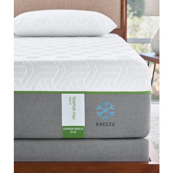 Tempur-Flex Supreme Breeze Mattress with Tempur-Ergo Extend Adjustable Base - KING