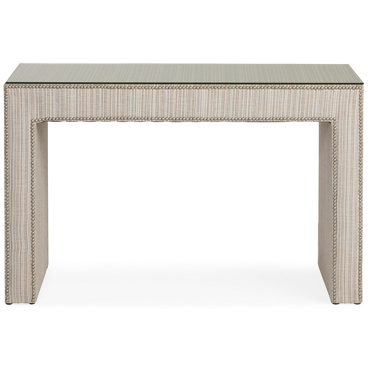 the best attitude 382ae 75c73 Jackie Glass Top Upholstered Console Table | Star Furniture