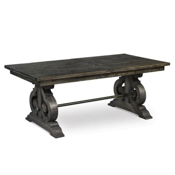 Treble II Rectangular Dining Table - PEPPERCORN