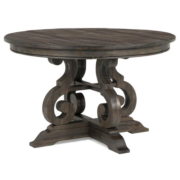 Treble II 48 Inch Round Dining Table - PEPPERCORN