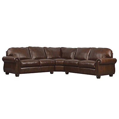 Benson Leather 3-Piece Sectional