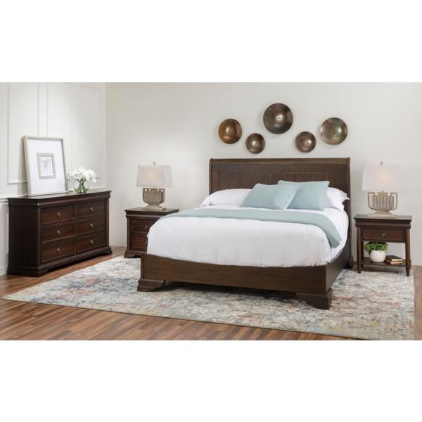 Louis Philippe Nougat Panel Bed