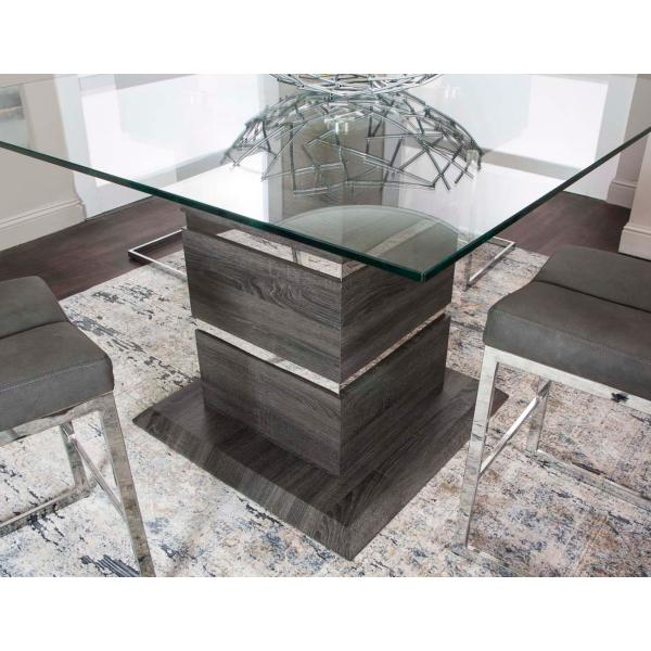 Gamma Counter Height Glass Top Dining Table