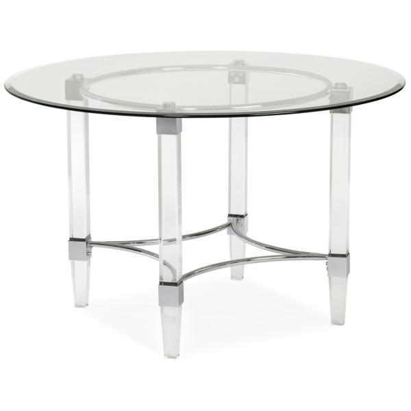 Aries 48-inch Round Glass Table