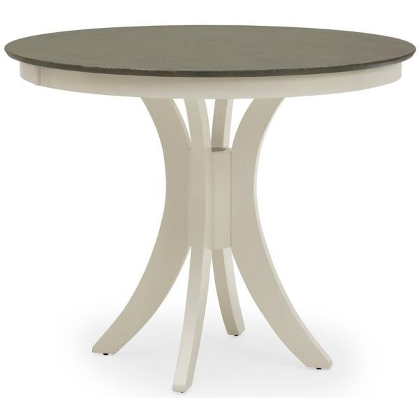 Cosmopolitan Round Counter Height Table - White/Heather Gray