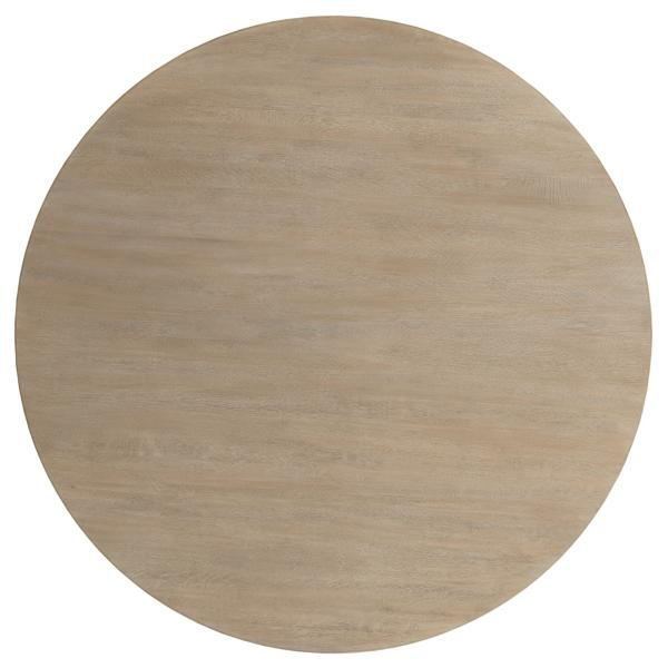 The Nook 44-inch Round Table - HEATHERED OAK