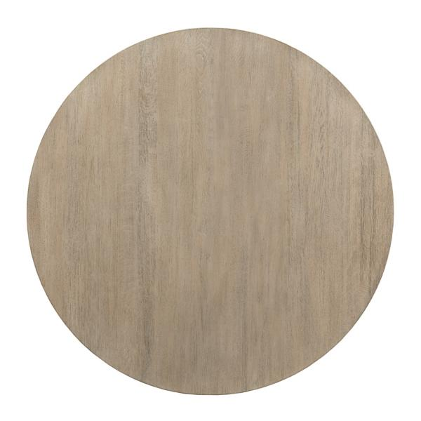 The Nook 44-inch Round With Contemporary Base - HEATHERED OAK