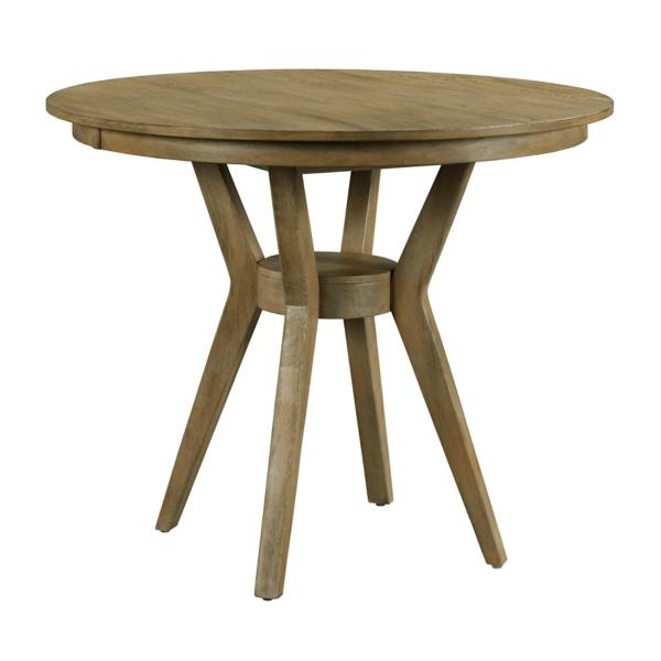 The Nook Oak 44-inch Round With Contemporary Base