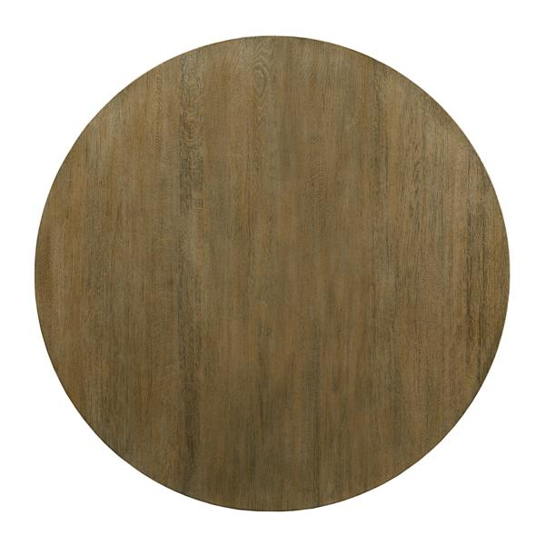 The Nook Oak 44in Round With Contemporary Base