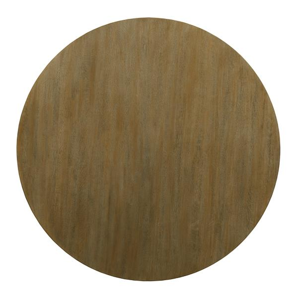 The Nook Oak 54-inch Round With Contemporary Base