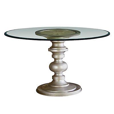 Morrissey 60 in. Round Glass Top Table