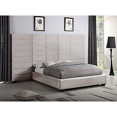 Lena Dante Toffee Queen Upholstered Wall Bed