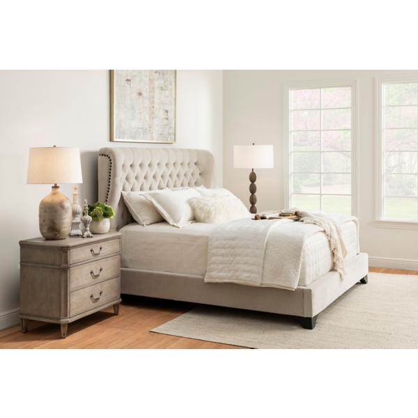 Chloe Upholstered Meringue Bed