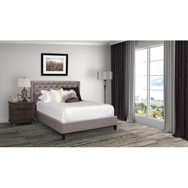 Kayla Upholstered Creek Queen Bed