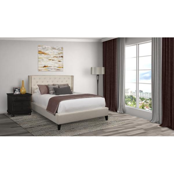 Kayla Upholstered Lily King Bed