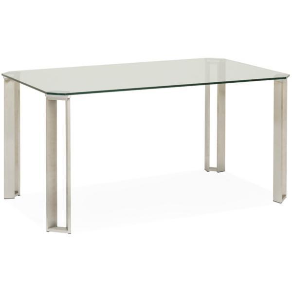 Rhonda Cut Corner Glass Table