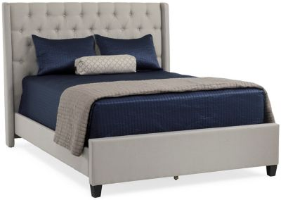 Howell Dove Grey Upholstered Bed Star Furniture