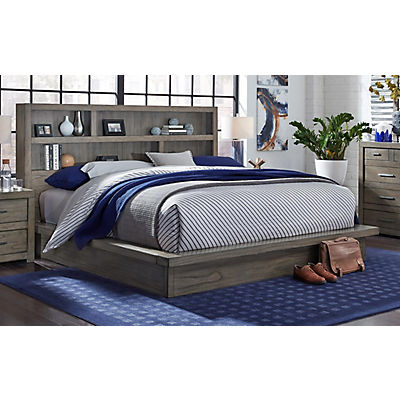 Modern Loft II King Storage Platform Bed - GREYSTONE