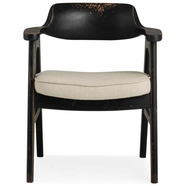 Wagner Black Frame Side Chair With Sand Seat
