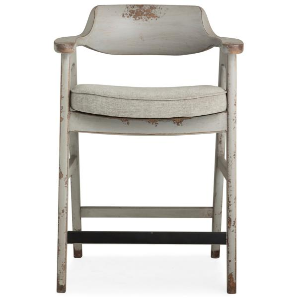 Wagner Grey Frame Counter Stool With Grey Seat