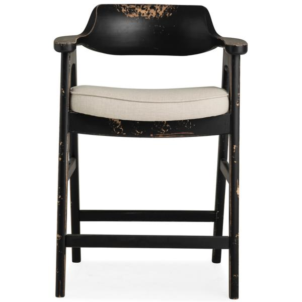 Wagner Black Frame Counter Stool With Sand Seat